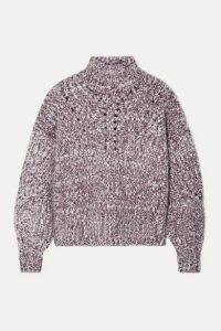 Isabel Marant - Jarren Mélange Alpaca-blend Turtleneck Sweater - Grape