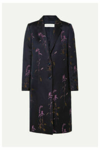 Dries Van Noten - Embroidered Twill Coat - Navy