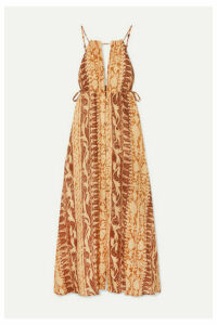 Cult Gaia - Agatha Printed Linen Maxi Dress - Brown