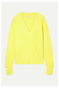 Tibi - Oversized Cutout Alpaca-blend Sweater - Yellow