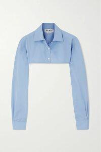 Dries Van Noten - Conga Floral-print Stretch-scuba T-shirt - Light blue