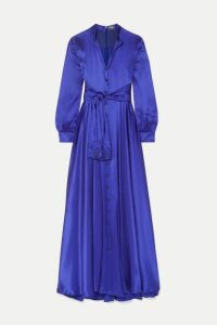 Alexis Mabille - Tie-detailed Silk-satin Gown - Royal blue