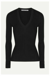 alexanderwang.t - Wash & Go Merino Wool Sweater - Black