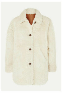 Isabel Marant - Sarvey Oversized Shearling Coat - Ecru