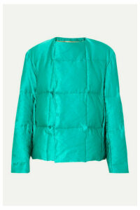 Dries Van Noten - Vigo Quilted Satin Down Coat - Emerald