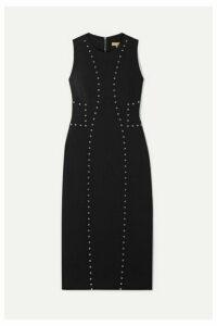 Michael Kors Collection - Studded Wool-blend Crepe Dress - Black