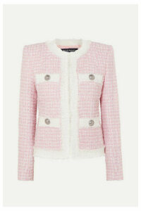 Balmain - Embellished Tweed Blazer - Pink
