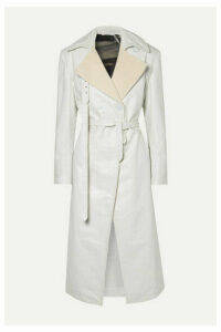 Peter Do - Canvas-trimmed Leather Trench Coat - Off-white