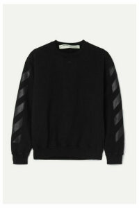 Off-White - Printed Cotton-jersey Sweatshirt - Black