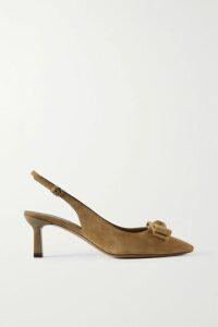 Alexis Mabille - Embellished Cold-shoulder Satin Gown - Navy