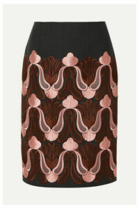 Dries Van Noten - Embroidered Cotton-blend Skirt - Pink