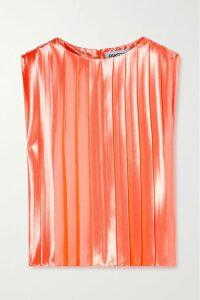 David Koma - Coated Cotton-blend Midi Dress - Black