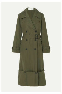 JW Anderson - Button-detailed Cotton-twill Trench Coat - Green