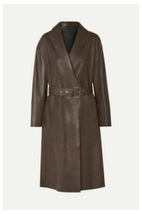 Brunello Cucinelli - Reversible Leather Trench Coat - Chocolate