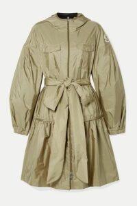 Moncler Genius - + 4 Simone Rocha Ellen Hooded Embellished Ruffled Shell Jacket - Beige