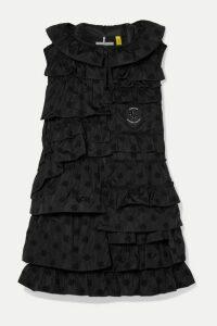 Moncler Genius - + 4 Simone Rocha Venus Ruffled Broderie Anglaise Shell Down Vest - Black