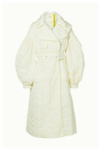 Moncler Genius - + 4 Simone Rocha Dinah Belted Broderie Anglaise Shell Coat - Cream