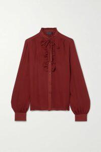 GANNI - Faux Patent-leather Mini Skirt - Burgundy