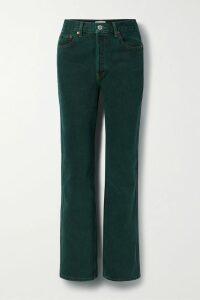 Mara Hoffman - + Net Sustain Violet Tie-front Floral-print Organic Cotton-voile Maxi Dress - Bright orange