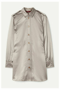 Sies Marjan - Kelsi Metallic Cotton-blend Satin Shirt - Silver