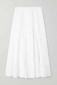 Akris - Belted Printed Cotton Midi Dress - Orange