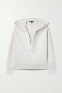 Theory - Tango Asymmetric Checked Jacquard Maxi Dress - Ivory