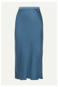 Anine Bing - Bar Silk-satin Midi Skirt - Blue
