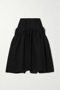 GANNI - Canvas-paneled Faux Patent-leather Jacket - Burgundy