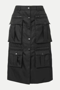 Prada - Zip-detailed Nylon Skirt - Black