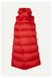 Rick Owens - Oversized Quilted Shell Down Coat - Red