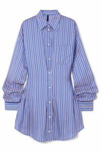 Unravel Project - Striped Silk Shirt Dress - Blue