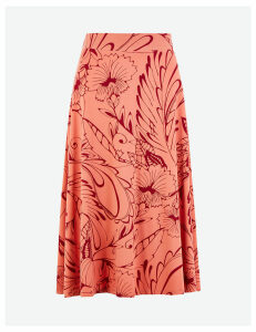 M&S Collection Floral Jersey A-Line Midi Skirt