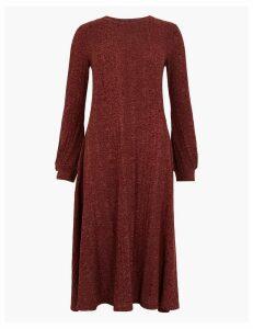 M&S Collection Jersey Cuff Sleeve Swing Midi Dress