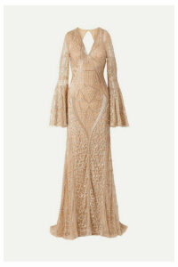 Naeem Khan - Embellished Tulle Gown - Gold