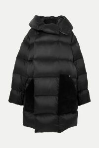 Rick Owens - Sisy Oversized Quilted Shell And Suede Down Coat - Black