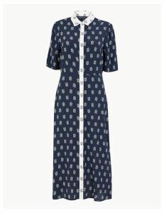 M&S Collection Foulard Printed Midi Shirt Dress