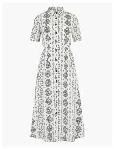 M&S Collection Printed Shirt Midi Dress