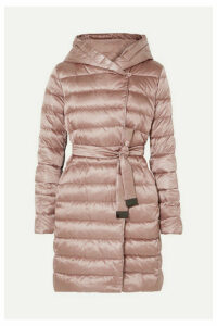 Max Mara - The Cube Hooded Belted Quilted Shell Down Coat - Pink