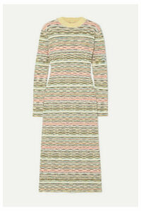 Missoni - Striped Ribbed Wool Midi Dress - Green
