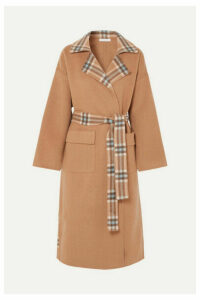 REJINA PYO - Meryl Convertible Paneled Checked Wool-blend Coat - Camel