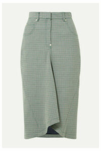 Pushbutton - Houndstooth Woven Midi Skirt - Gray