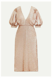 Costarellos - Sequined Crepe Dress - Gold