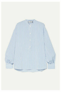 Paul & Joe - Oversized Striped Woven Top - Blue