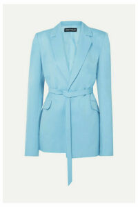 House of Holland - Belted Grain De Poudre Blazer - Sky blue