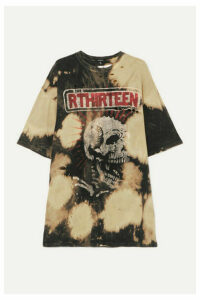 R13 - Oversized Distressed Embellished Tie-dyed Cotton-jersey T-shirt - Black