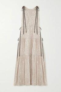 Paco Rabanne - Metallic Jacquard-knit Top - Orange