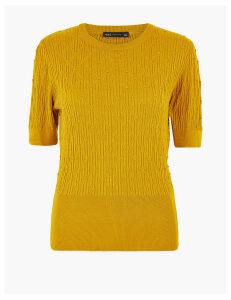 M&S Collection Argyle Stitch Knitted Top