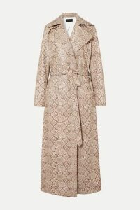 Michael Lo Sordo - Snake-effect Faux Leather Trench Coat - Snake print
