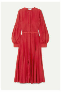 Gabriela Hearst - Gertrude Pintucked Wool And Cashmere-blend Midi Dress - Red