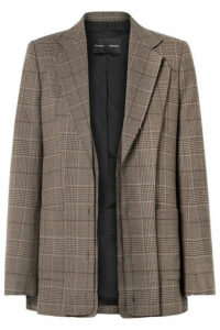 Proenza Schouler - Oversized Layered Checked Wool-blend Blazer - Brown